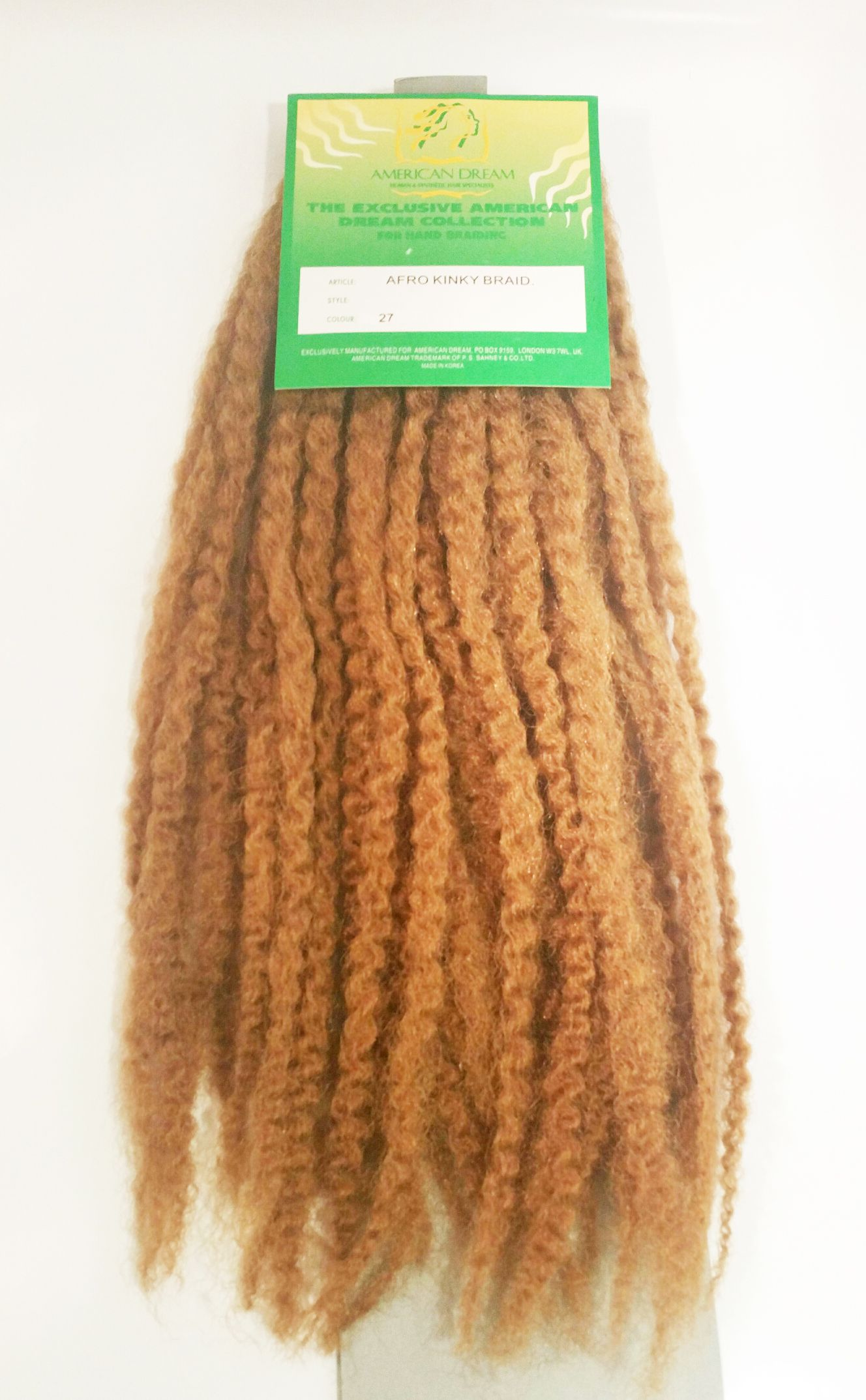 Afro Kinky Braid Colour 27 2 Packs Love Afro Cosmetics