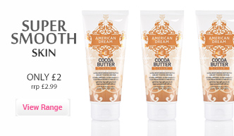 get super smooth skin with american dream cocoa butter tubes