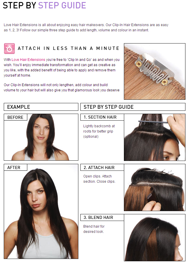 Clip In Hair Extensions Step By Step Guide 120