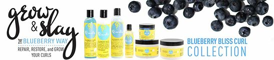 blueberry bliss collection by curls brand from the USA available now here at love afro cosmetics