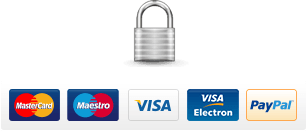 100% secure payment - 128 bit ssl security - We accept most major credit and debit cards.
